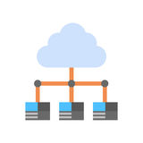 Cloud Data Center Icon Computer Connection Hosting Server Database Synchronize Technology. Vector Illustration Stock Image
