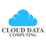 Cloud data logo template design Stock Image