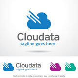 Cloud Data Logo Template Design Vector. This design suitable for logo or icon. Color and text can be changed easily Stock Photography