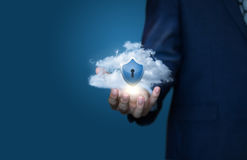 Cloud data security concept. Cloud data security concept design Royalty Free Stock Photography