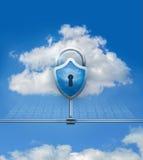 Cloud data security Stock Image