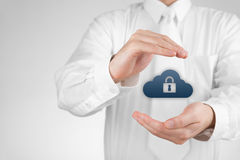 Cloud data security Stock Images