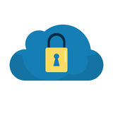 Cloud data security system technology Royalty Free Stock Photo