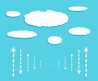 Cloud with data signals in form of arrows Royalty Free Stock Photography