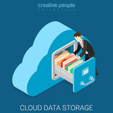 Cloud data storage flat 3d isometric vector Royalty Free Stock Image