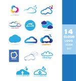 Cloud data storage logo icon set Royalty Free Stock Photography