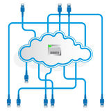 Cloud data storage. Mirroring. Worldwide network. Stock Photography
