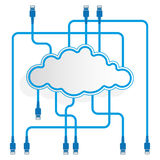 Cloud data storage. Mirroring. Worldwide network. Royalty Free Stock Photography