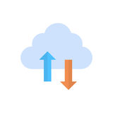 Cloud Data Synchronization Icon Computer Connection Database Access Synchronize Technology Stock Photography