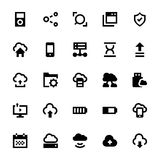 Cloud Data Technology Vector Icons 6 Stock Images