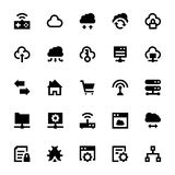 Cloud Data Technology Vector Icons 5 Royalty Free Stock Images