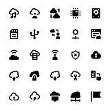 Cloud Data Technology Vector Icons 4 Royalty Free Stock Photo