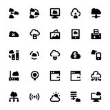 Cloud Data Technology Vector Icons 7 Stock Photography