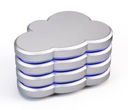 Cloud database icon Royalty Free Stock Images