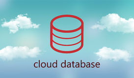 Cloud database Royalty Free Stock Image