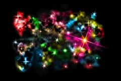 cloud den färgrika stjärnan för färg Arkivfoton