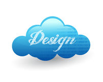 Cloud design illustration. Over a white background Vector Illustration
