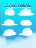 Cloud Design Set Blur Sky Vector Royalty Free Stock Photography