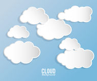 Cloud design. Wheater icon. Colorful illustration Stock Photography