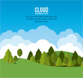Cloud design. Wheater icon. Colorful illustration Royalty Free Stock Photography