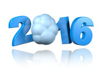 Cloud 2016 design. With a White Background Royalty Free Stock Image