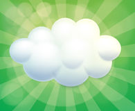 A cloud-designed empty template Royalty Free Stock Photo
