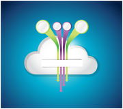 Cloud and destinations. illustration design Royalty Free Stock Images