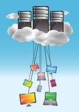 cloud det beräknande begreppet Arkivfoto