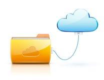 cloud det beräknande begreppet Royaltyfria Bilder