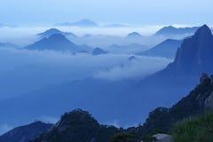 cloud det sanqingshan mistberg Royaltyfria Bilder