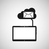 Cloud device email media apps graphic Stock Photography