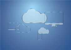Cloud device. Responsive device connecting with cloud Royalty Free Stock Images