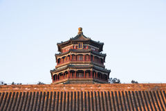 Cloud-Dispelling Hall of Summer Palace. Beijing Stock Photo