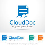 Cloud Doc Logo Template Design Vector Royalty Free Stock Photo