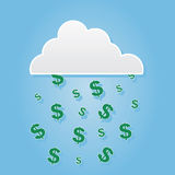 Cloud Dollar Signs Stock Image