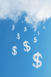 Cloud dollars sign Stock Photography
