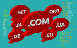 Cloud domain names. Royalty Free Stock Image