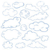 Cloud doodle icon set isolated vector Stock Image