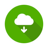 Cloud Download icon. Glyphs Shadow Icon Royalty Free Stock Image