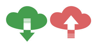 Cloud download iconc Royalty Free Stock Images