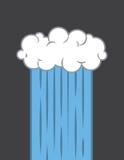 Cloud Downpour. Single cloud downpour stream of rain Stock Photos
