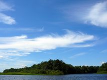 Cloud-dragon Over Lake Royalty Free Stock Photos