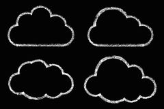 Cloud drawing with chalk Royalty Free Stock Image