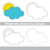 Cloud. Drawing worksheet. Royalty Free Stock Image