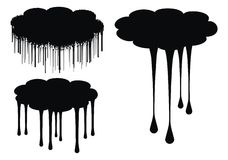 Cloud drips vector illustration Stock Photography