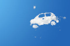 Cloud eco car on blue sky Royalty Free Stock Image
