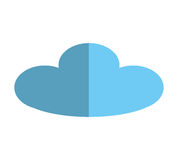 cloud ecology isolated icon Royalty Free Stock Photography