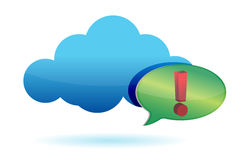 Cloud and exclamation sign illustration Royalty Free Stock Image