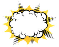 Cloud after the explosion. Cartoon cloud after the explosion over white background Stock Image