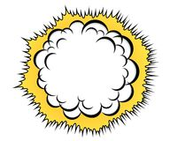 Cloud after the explosion. Cartoon cloud after the explosion over white background Stock Images